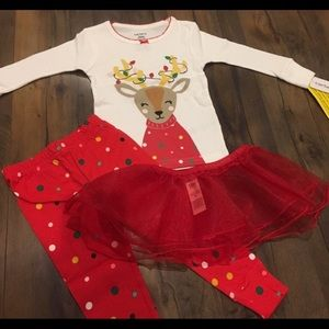Carters 12 month girl's Christmas pajamas
